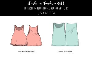 Fashion Tanks- Set 1