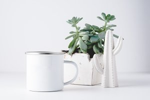 White 10oz Camp Mug