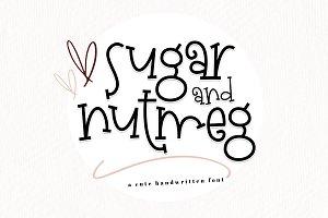 Sugar and Nutmeg - Handwritten Font
