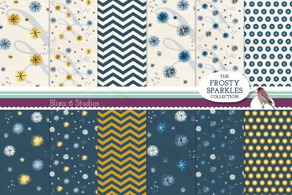 Sparkly Digital Wrapping Paper Pack