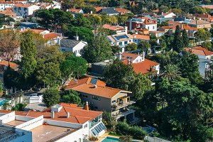 Aerial view of residential Cascais,