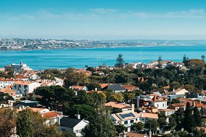 Aerial view of Cascais Bay, Portugal