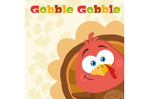 Happy Turkey Bird Cartoon Character