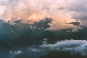 Mountains and clouds Landscape