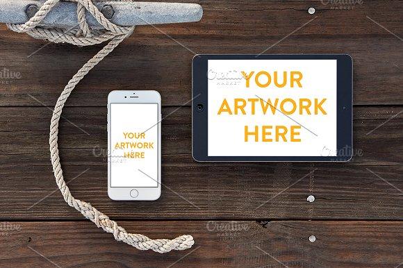 Download Nautical iPhone & iPad Mockup PSD