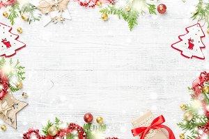 Bright shiny Christmas frame.