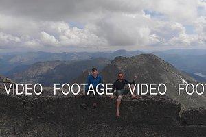 Amazing selfie of two brave men