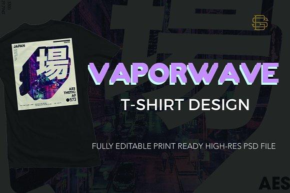 vaporwave t shirt design template illustrations creative market