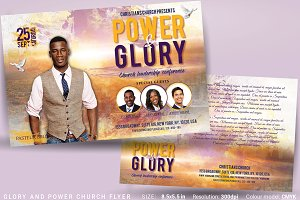 Glory And Power Church Flyer