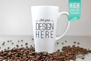 17oz Latte Mug Mockup - 1 Sided