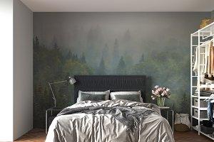 Wall mockup - wallpaper mockup