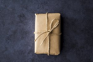 A Christmas present in decorative bo