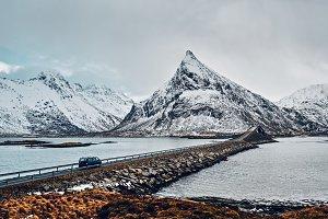 Fredvang Bridges. Lofoten islands