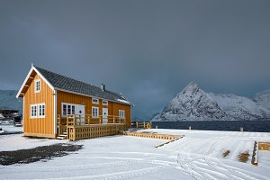 Sakrisoy fishing village on Lofoten