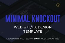 Minimal Knockout PSD Website by  in Websites