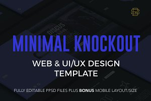 Minimal Knockout PSD Website