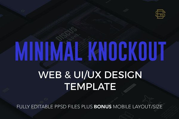 Website Templates: StayGold Design Co. - Minimal Knockout PSD Website