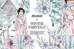Winter Fairytale Cliparts