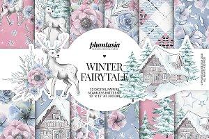 Winter Fairytale Digital Papers