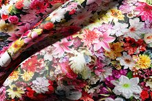 Flowers silk