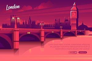 London - Vector Landscape & Building