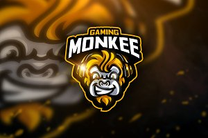 Monkee Gaming- Mascot & Sport Logo