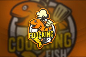 Coocking Fish - Mascot & Sport Logo