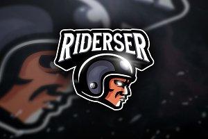 Riderser - Mascot & Sport Logo