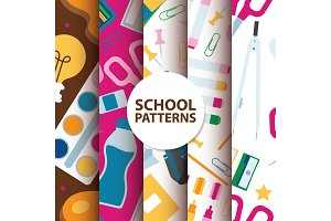 Back to School supplies seamless