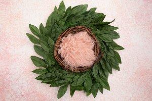 Pink Fur Digital Newborn Backdrop fo