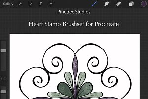 Procreate Heart Stamps .brushset