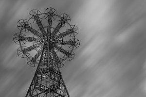 Parachute jump tower