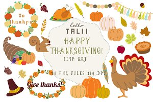SALE! Happy Thanksgiving Clip Art