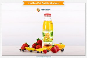 Iced Tea Pet Bottle Mockup
