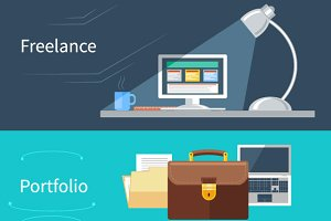 Portfolio and Freelance Concept