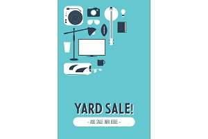 Flat Illustrated Yard Sale Graphic