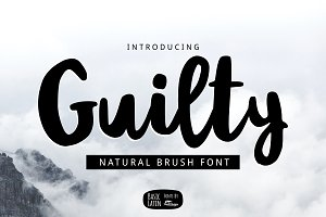 Guilty Brush Font
