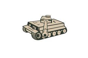 World War Two German Panzer Tank Aim