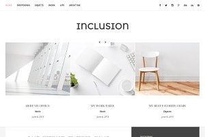 Inclusion - blog WordPress theme