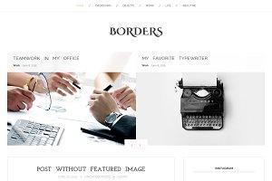 Borders - blog WordPress theme