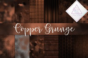 Copper Grunge Digital Paper