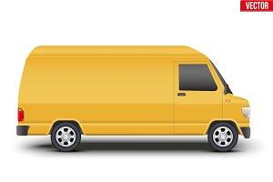 classic service yellow minibus