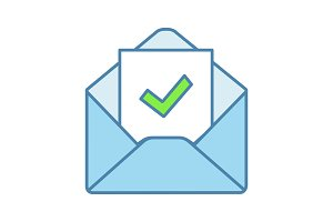 Email confirmation color icon