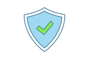 Security approved color icon