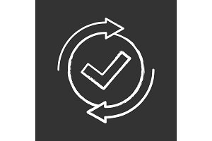 Checking process chalk icon