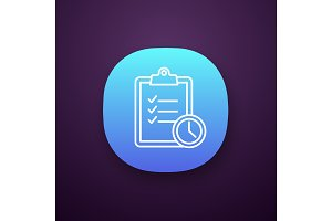 Time management app icon