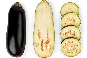 Eggplant isolated on white backgroun