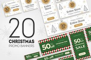 20 Christmas Promo Banners