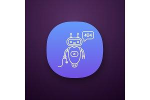 Not found error chatbot app icon