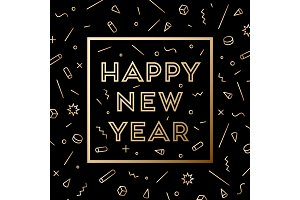 Happy New Year. Greeting card with